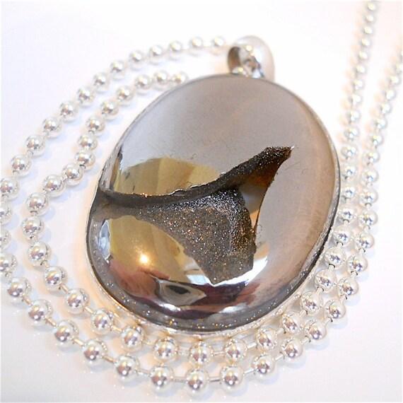 Huge Silver Window Druzy, Drusy Pendant, Silver Bezel Set Geode Agate Statement Necklace, Dramatic Fashion Accessory