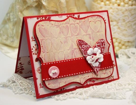 valentines card handmade card greeting card you  me