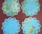 Custom Order for ksilvers 24 Blue Paper Doilies