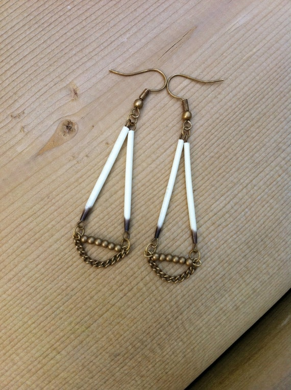 Porcupine Quill Jewelry Items similar to Dangl...
