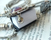 The lost Book of the longing Evil - Mini book - Halloween - Vile - Necklace - Jewelry - Spooky - Scary -
