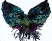 Tribal Peacock Feather Belly Dance BRA custom Made 4U