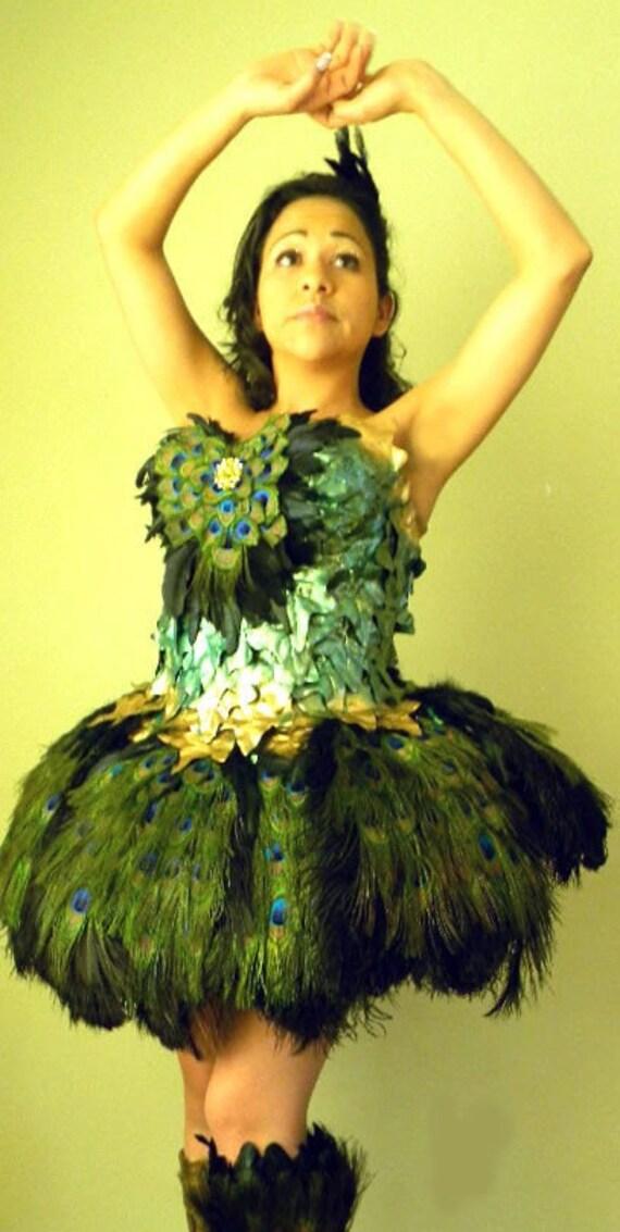 Peacock Feather Ballerina Fairy Costume DRESS Made 4 U