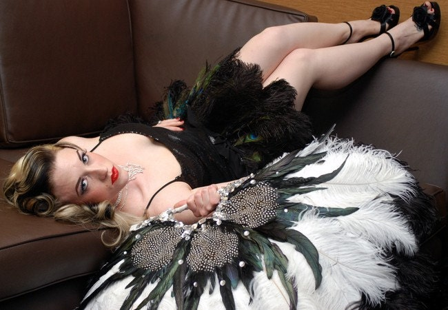 how to make your own ostrich feather fan