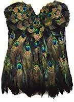 Peacock Feather Corset Las Vegas Burlesque Custom By