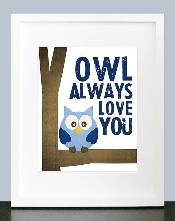 Owl Always Love You Wall Art 8x10 Baby Nursery by ...