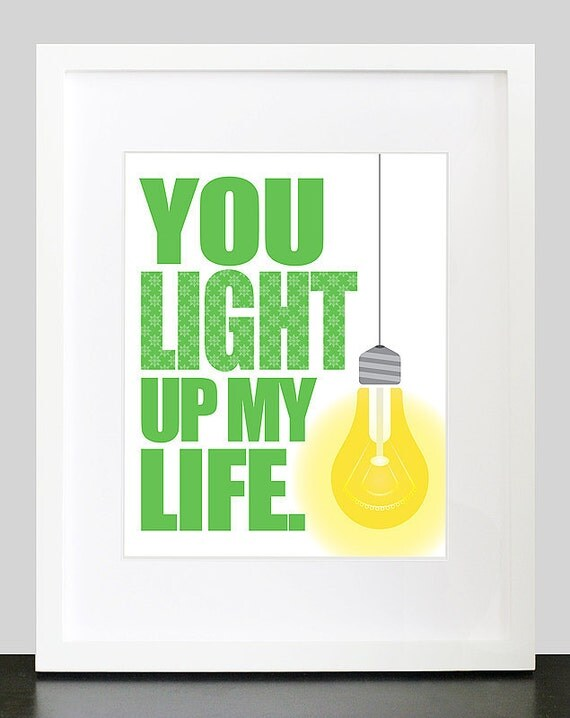 you light up my life wall art 8x10 custom by mateoandtobias. Black Bedroom Furniture Sets. Home Design Ideas