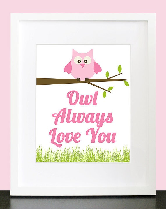 Owl Always Love You Wall Art. Children's Wall by ...