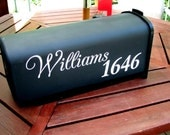 Vinyl Mailbox Graphic, Decal, Wedding Shower, Housewarming, Vinyl Letters, Custom - Script