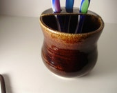 Handmade toothbrush holder and cup ready to ship