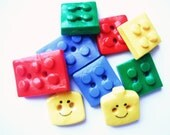 Button Legos handmade polymer clay buttons ( 9 )
