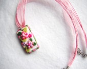Polymer Clay Handmade Flower Pendant Necklace