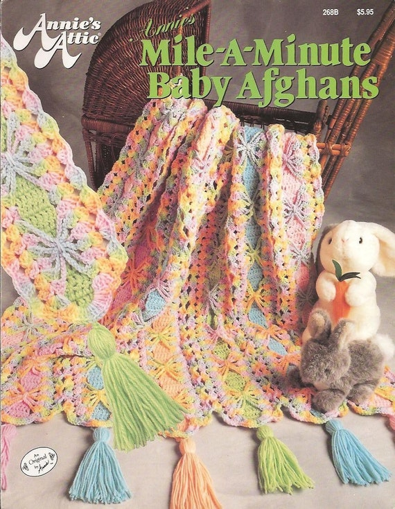 Annies Attic Baby Afghans Mile A Minute Crochet