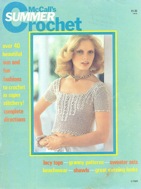 1976 SUMMER CROCHET McCall's Magazine 1970s Fashion - Bikini, Camisole and MORE