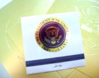 President Ronald Reagan White House matchbook and Presidential seals 1980s memorabilia