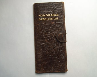 WWII Honorable Discharge papers folder