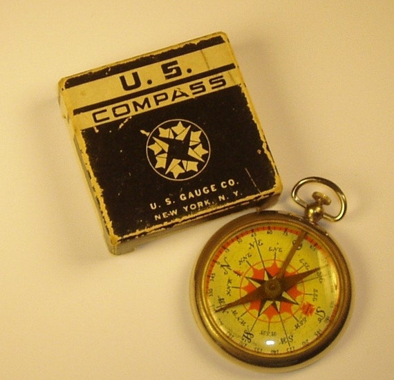 Vintage U.S. Gauge Company compass