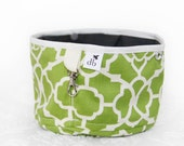 Squishy Travel Pet Water Bowl - Chartreuse Garden Gate