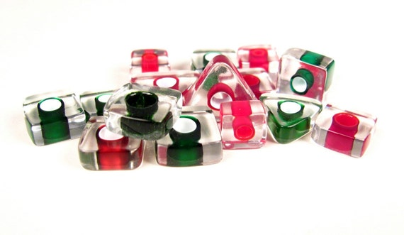 Christmas Slices - American Furnace Glass Beads