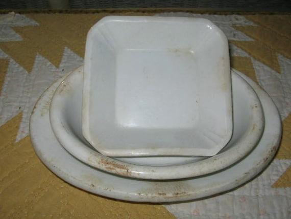 Vintage English White Ironstone Dishes
