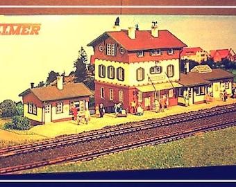 HO Scale Vollmer Station Stockheim train station RARE - 68A