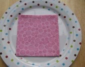 Pink Spirals Reusable Eco-Friendly Lunchbox Napkin