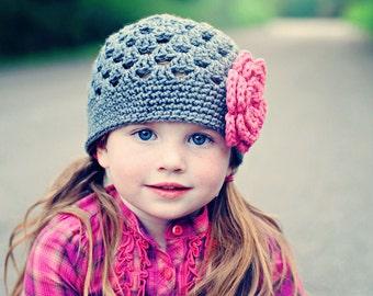 Girls Beanie / Crochet Baby Hat / Girls Hat / Baby Girl Hat / Girls Winter Hat / Hats For Girls / Toddler Crochet Hat / Crochet Girls Hat