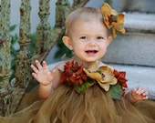 Goldilocks Tutu Dress with Matching Magnolia Flower Hair Clip - Size S