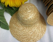 3 Apple Blossom Hats Straw Bonnets Medium fits American Doll