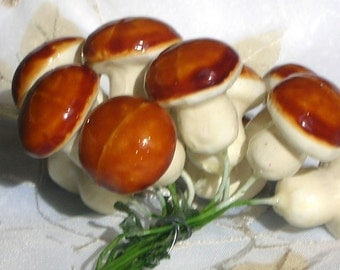 Medium Brown Craft Mushrooms