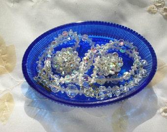 Crystal Jewelry Necklace Earring Set  Aura Borealis