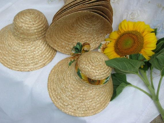 Straw Bonnets 12 Large Hats