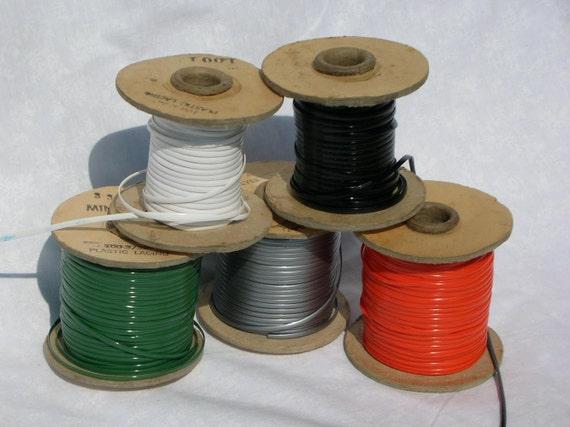 Vintage Lanyard Flat Plastic Cord, 120 Yds or 110 meters