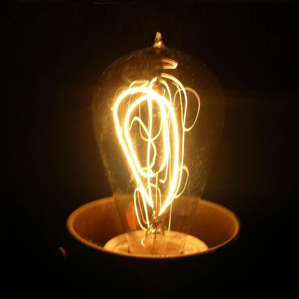Double Edison Bulb Lamp: Antique Edison Double Loop Light Bulb