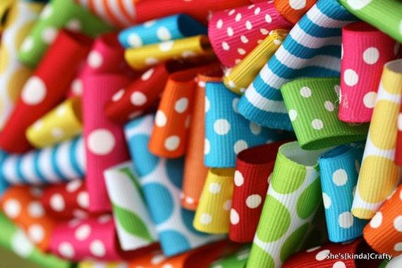 "DIY Ribbon Wreath Kit - 14"" You Pick Colors"