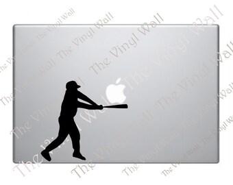 Baseball Player Vinyl Decal Sticker for all Apple MacBooks