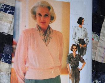 1993 The Vogue Woman Pattern 8603 for Women's Blouse Size 12, 14, 16 Uncut