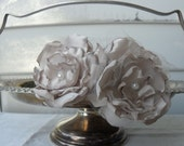 handmade flower headband in ivory and champagne tones for bridal, wedding, prom, formal