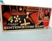 Vintage Scrabble Sentence Cube Game 1971