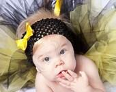 3Tutus- Black, White and Gold- plus 3 Hair Flowers& headbands