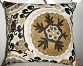 NEW Decorative  Pillow Cover Suzani pattern,  KAS Of Australia  Cavallo Marble, 18 X 18
