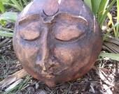 Selene Goddess of the Moon Mask Garden Sculpture
