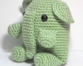 Amigurumi Elephant Toy, Pistachio Green