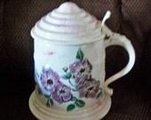 burgandy rose ice bucket