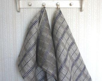 Linen towel set -Old Cottage Navy- tea towels, linen kitchen, hand towels, guest towels,