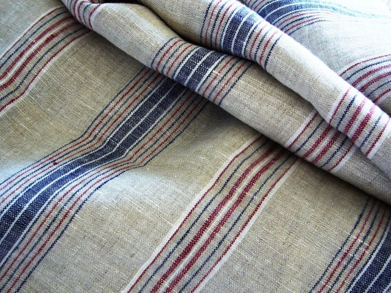 Linen fabric French style striped -Riviera- Reserved
