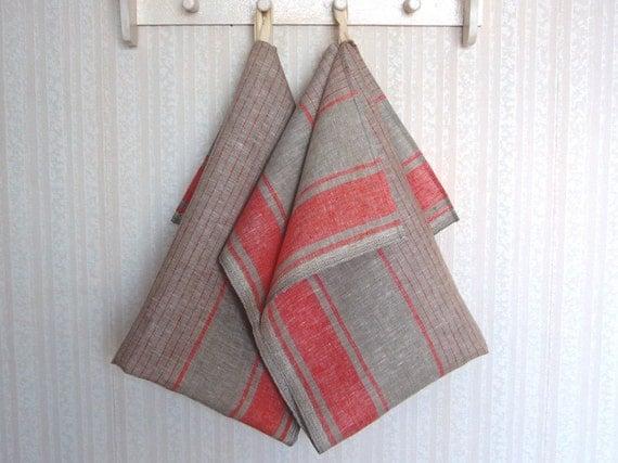 Linen kitchen towels -Old Cottage- linen tea towel, hand towel, guest towels,