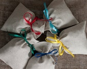 Linen gift bags - Wedding favor gift bags set of 5