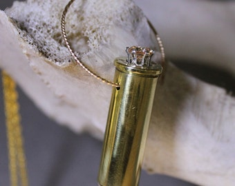 Mystic Hunter's Talisman .41 Magnum Bullet Necklace