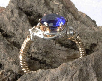 Egyptian Style Wire Wrapped Sapphire Ring